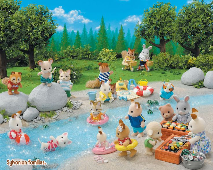 summer swimming with the Sylvanians! :)