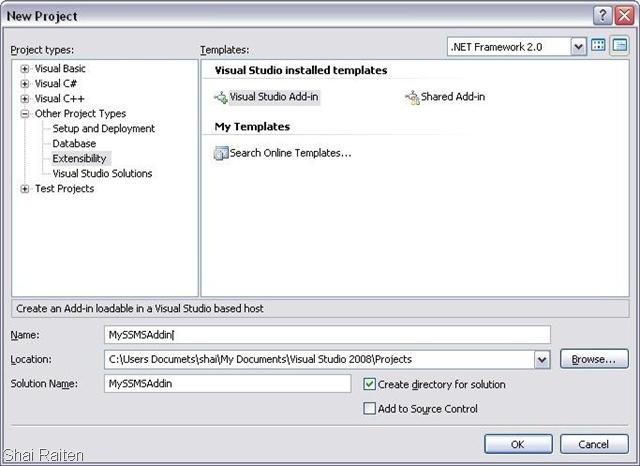 How To : Create SQL Server Management Studio Addin