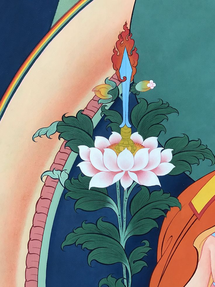 Tsongkhapa's sword detail. #ColoringForMeditation #TibetanArt #TibetanColoring #Thangka #BuddhistArt #BuddhistColoring