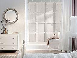 Klasszikus, fehér hálószoba