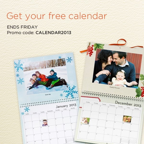 Saving 4 A Sunny Day: Free Calendar From Shutterfly