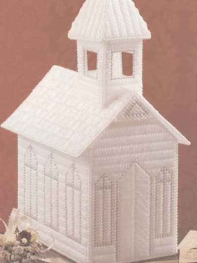Church Keepsake Box ~ Plastic Canvas