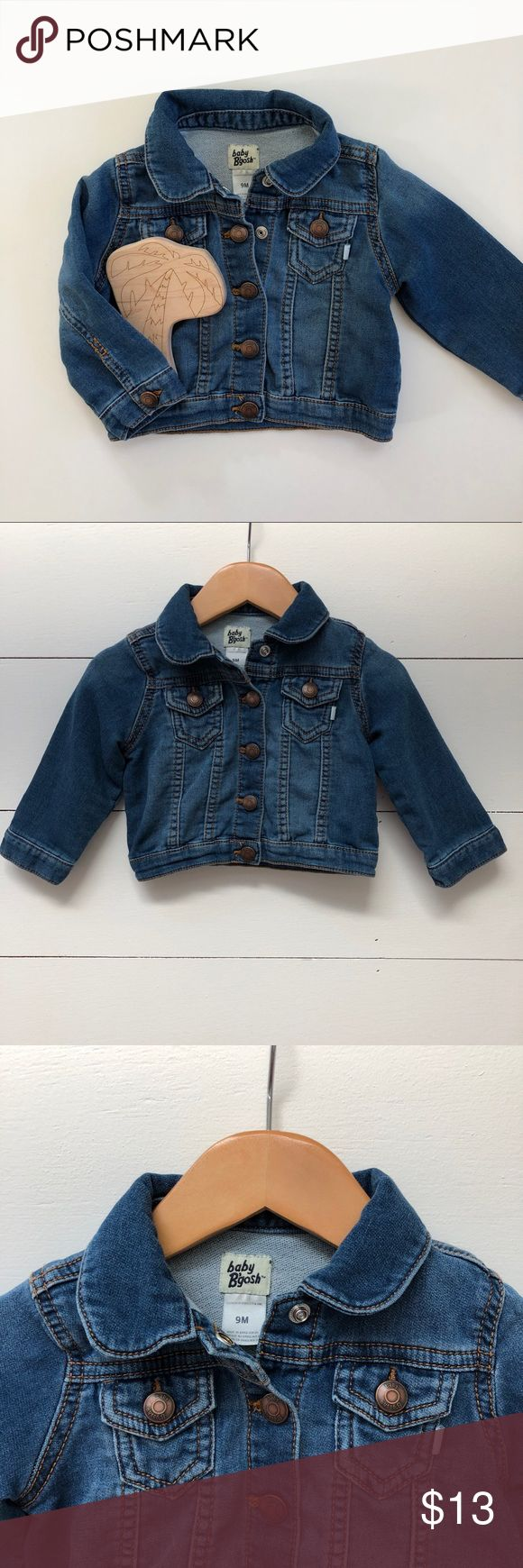 Baby Denim Jacket 9 months Like new baby denim jacket for girl or boy. Love this because it has stretch to it so its comfy. a lot of denim jackets are more stiff - size 9 months from OshKosh/ Baby B'Gosh OshKosh B'gosh Jackets & Coats