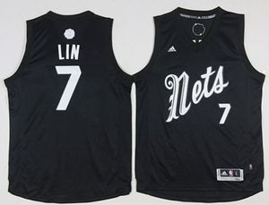 Brooklyn Nets #7 Jeremy Lin Black 2016-2017 Christmas Day Stitched NBA Jersey