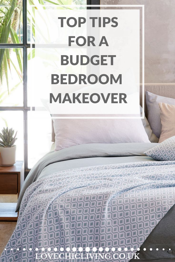Top ideas on creating a bedroom makeover for just £300 and in only a weekend! On a budget? No problem, great tips for making the most of your money for your dream bedroom.