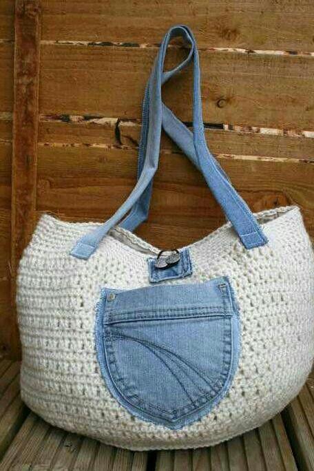 Crochet/Demin hangbag