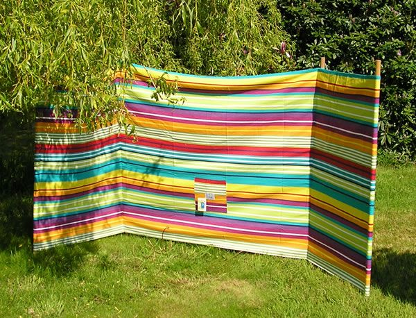 beach windbreak rainbow stripe vintage california