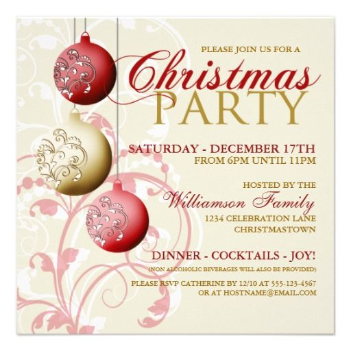 Festive Christmas Party Invitation Invitations Time And Themes