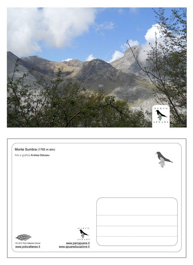 Progetto grafico per le cartoline del Parco delle Alpi Apuane. Andrea Delussu, 2011