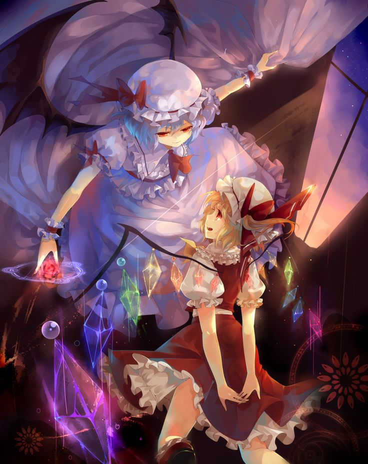 Remilia Scarlet, Flandre Scarlet (Touhou 6 - Embodiment of Scarlet Devil)