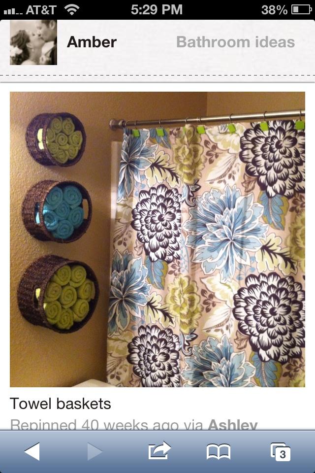 Cute basket ideas above the toilet