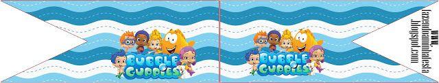 Bubble Guppies - Kit Completo com molduras para convites, rótulos para guloseimas, lembrancinhas e imagens!
