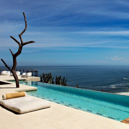 A swimming pool by the sea...