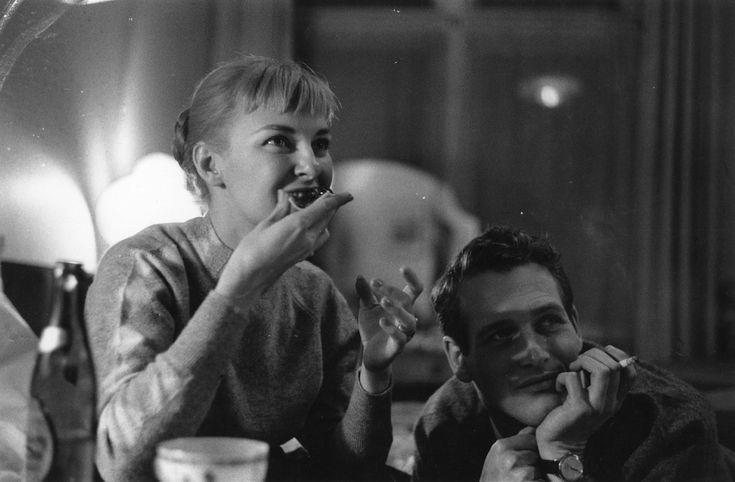 IlPost - Joanne Woodward e Paul Newman - Gli attori americani Joanne Woodward e Paul Newman il 3 febbraio 1958: 4 giorni prima, il 29 gennaio, si erano sposati a Las Vegas (Alan Meek/Express/Getty Images)