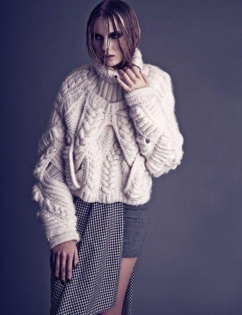 A chunky chunky knit