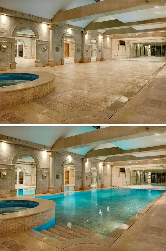 Hide-away swimming pool