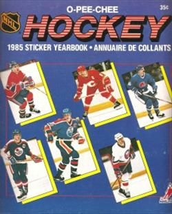 1985 O-Pee-Chee Hockey Sticker Yearbook