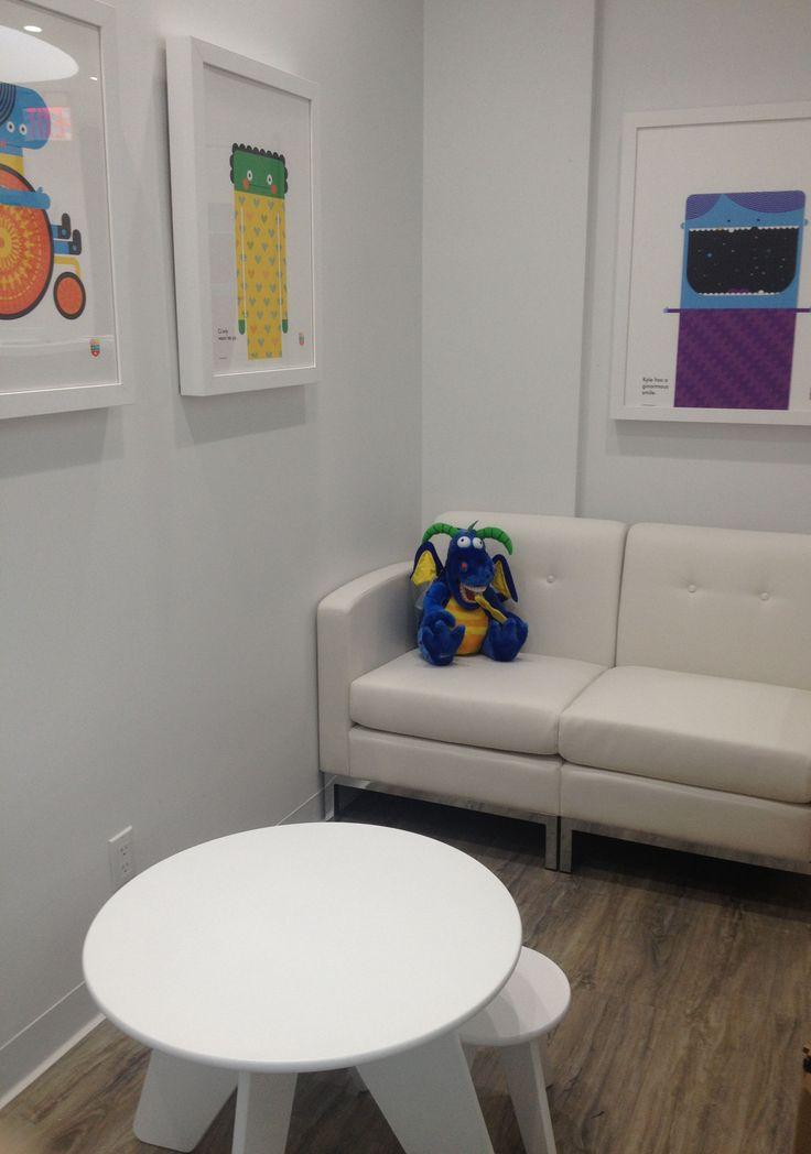 Pediatric Dentist Office- Waiting Room eco-friendly interior design