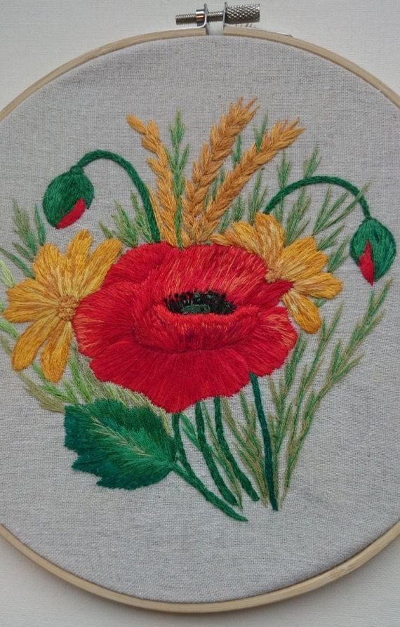 Hey, I found this really awesome Etsy listing at https://www.etsy.com/ru/listing/514669375/hand-embroidered-flowers-home-decor-with #PetitcerclebyL #poppy  #poppies #red #flowers #embroidery  #hoop #decor