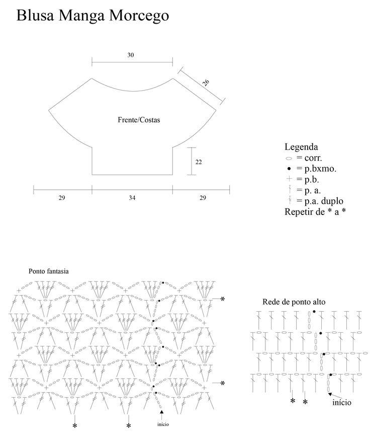 Material: Círculo – Encanto – 2 nov. Bordô (3794). Agulha para crochê Círculo – nº 3,5mm. Tamanho: 38/40 Ponto utilizado – Correntinha (corr.). Ponto baixíssimo (p. bxmo.): Introduza a ag., laç., puxe o p. e passe diretamente no p. da ag.. Ponto baixo (p. b.): introduza a ag. laç.,
