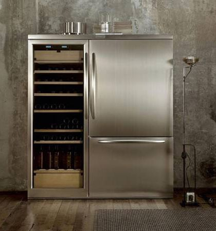 Exceptional KitchenAid   A Combined Fridge Freezer And Wine Cabinet With Humidor In One  Stylish Professional Refrigeration