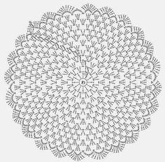 Agulhas e Pinceis: Sousplat de crochê. Linha Anne fio duplo, agulha 2mm.