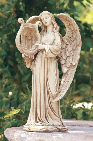 angel statue sculpture in alabastrite angels angel statues angel garden statues angel. Black Bedroom Furniture Sets. Home Design Ideas