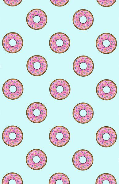 Cartoon Donuts Blue Sky Pattern Art Print by RexLambo   Society6