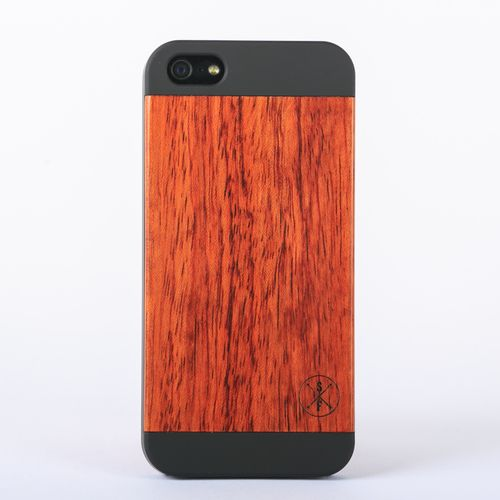 Rosewood Cannington Case - Black iPhone 5/5S - Composed of a solid piece of rosewood with a polycarbonate shell, this unique case offers protection from harmful elements and scratches. Plus, 20% of the sale goes to charity and 1 tree is planted per product sold!