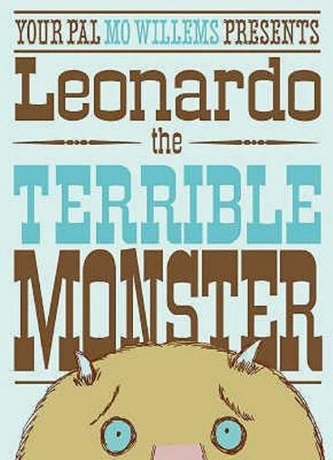 Leonardo the Terrible Monster by Mo Willems.  Leonardo is a terrible monster -- he can't seem to frighten anyone. When he discovers the perfect nervous little boy, will he scare the lunch out of him? Or will he think of something better?