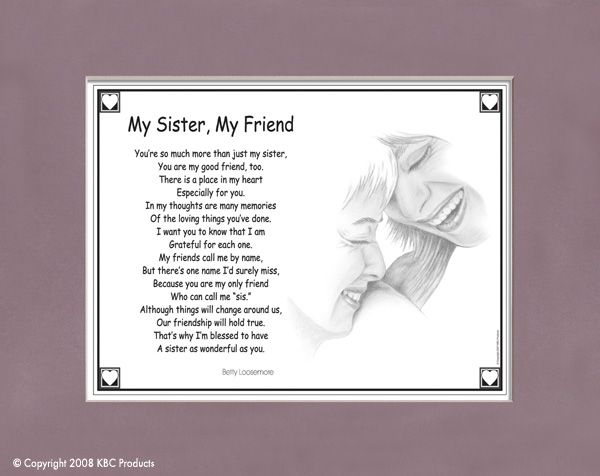 Bridesmaid Poems for Sisters | This caring poem reflects the wonderful bond shared by sisters.