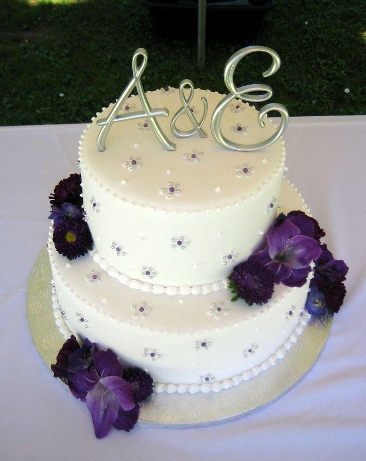 Small Purple wedding cake