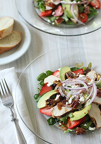 The Galley Gourmet: Strawberry Chicken Salad with Tomato-Balsamic Vinaigrette