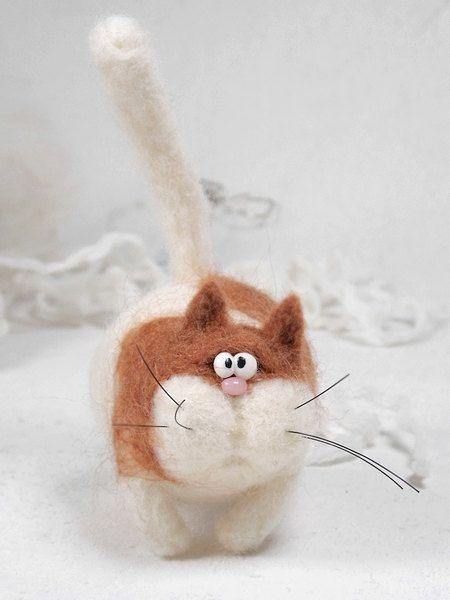 Cat Erif- Needle felt , Needle felting dog, Needle felted cat , Handmade cat , Puppy cat , Great gift