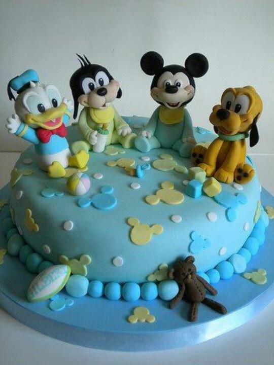 Baby mickey mouse cakemickey mouse cake baby cake baby disney baby