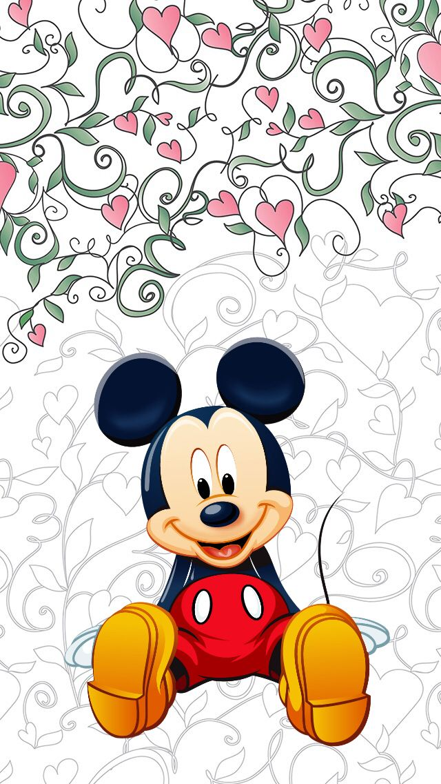 Обои iPhone wallpapers Mickey Mouse                                                                                                                                                                                 Mais