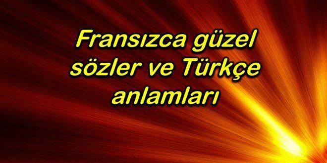 Fransizca Guzel Sozler Ve Turkce Anlamlari