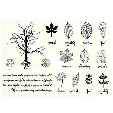 5 pcs arbre vs feuille tatouage temporaire imperm able l 39 eau 11cm 15cm tatouage. Black Bedroom Furniture Sets. Home Design Ideas