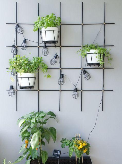 DIY – Pflanzengitter für Garten & Balkon aus Rundstäben selber machen