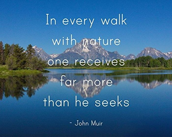 Inspirational Quote - In Every Walk With Nature One Receives Far More Than He Seeks - John Muir Quote - Grand Tetons Landscape Photography - Motivational Wall Decor