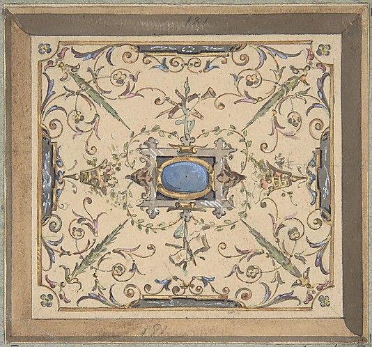 Design for Ceiling, Château de Cangé