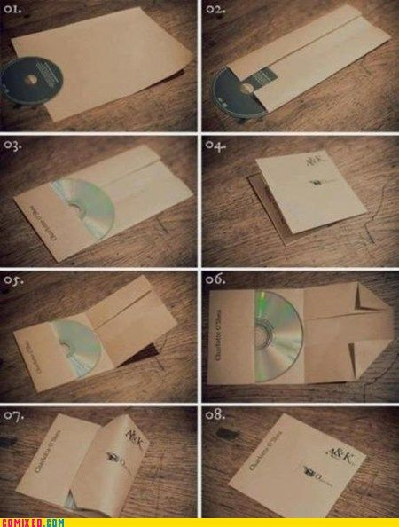 make your own cd case with a only single sheet of paper