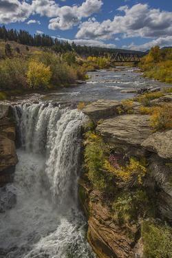 Lundbreck Falls in Alberta