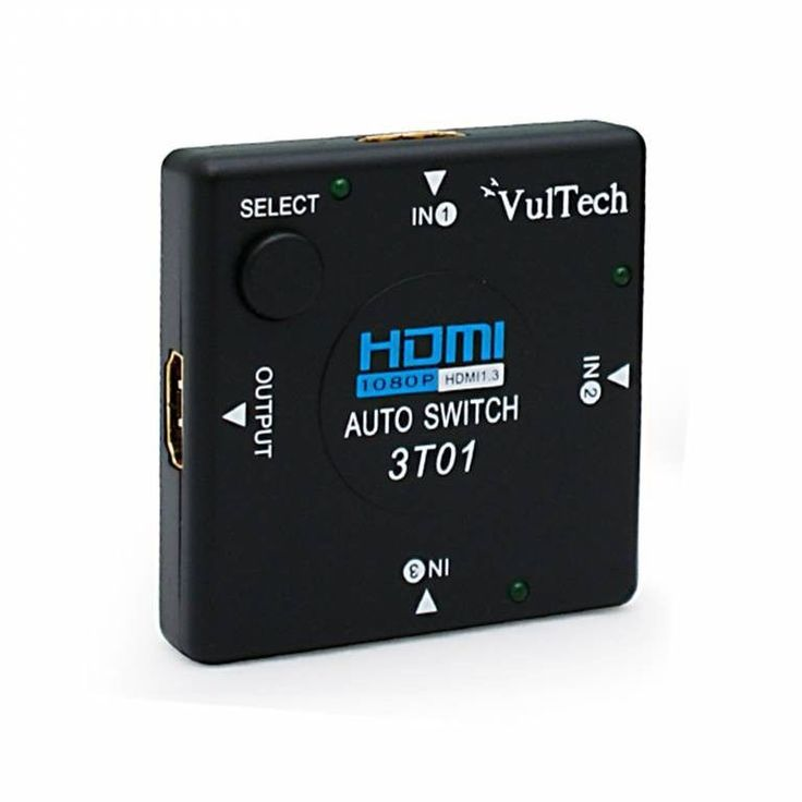 AUTO SWITCH 3 PORTE VIE AUTOMATICO HDMI HUB FULL HD 1080P VULTECH SW-01