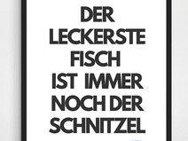 Poster-Typo Print Schnitzel Geschenk A3