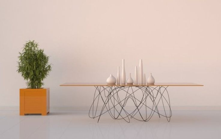 unique dining tables | Modern Dining Table With Unique Legs | DigsDigs