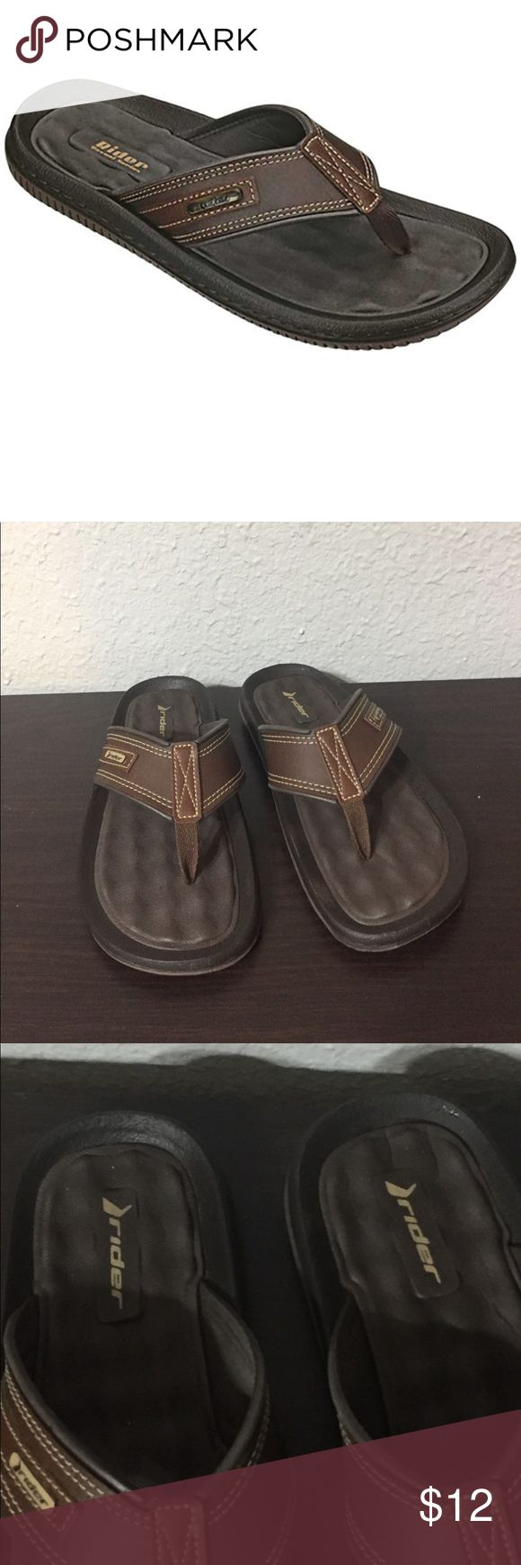 Men's Rider Flip Flops Only worn a couple of times and in great used condition. Stylish leather straps. Smoke free home! Shoes Sandals & Flip-Flops