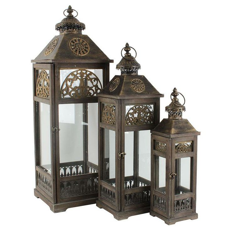 Gorgeous wooden/metal #lanterns www.inart.com