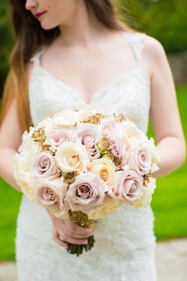 Blush & pink wedding bouquet Model: Aliona Ciumac  Photo: Avenue Photo Wedding Planner: Tracey M Events Florals: www.decorwithgrandeur.com