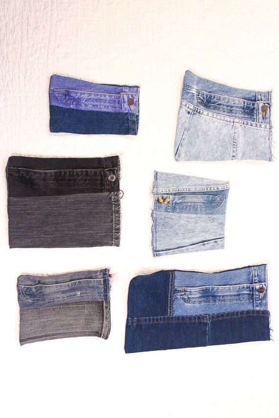 Upcycled Denim Zip Pouch/Bag/Clutch/Purse/Wallet All One-of-a-Kind